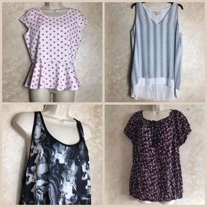 Tops - Bundle of 4 XL Tops Shirts Womens